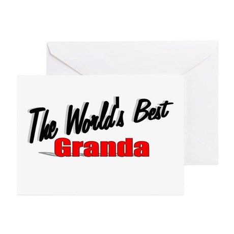 """The World's Best Granda"" Greeting Cards (Pk of 10"