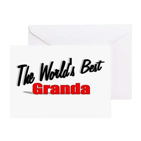 """The World's Best Granda"" Greeting Card"