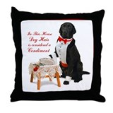 Butler Dog Hair Throw Pillow