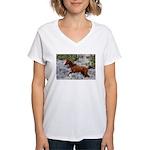 Call Of The Wild Women's V-Neck T-Shirt