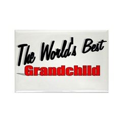 """The World's Best Grandchild"" Rectangle Magnet"
