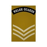 Welsh Guards LSgt<BR> Rectangle Magnet