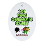 2007 Divorce Commemorative Oval Ornament