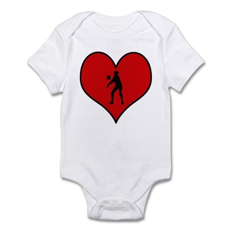 I heart Womens Volleyball Infant Bodysuit