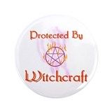 "Protected By Witchcraft 3.5"" Button (100 pack)"