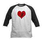 I heart Wakeboarding Kids Baseball Jersey
