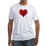 I heart Wakeboarding Fitted T-Shirt