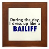 Dress Up Like A Bailiff Framed Tile