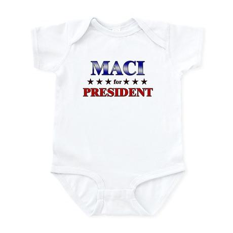 MACI for president Infant Bodysuit