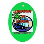 Christmas In Florida Oval Ornament