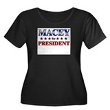 MACEY for president Women's Plus Size Scoop Neck D