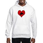 I heart Piano Hooded Sweatshirt