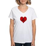 I heart Mountain Biking Women's V-Neck T-Shirt