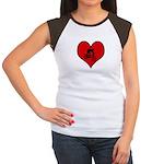 I heart Mountain Biking Women's Cap Sleeve T-Shirt