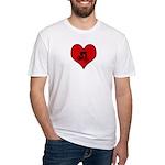 I heart Mountain Biking Fitted T-Shirt