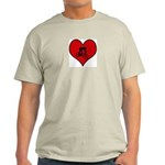 I heart Mountain Biking Light T-Shirt