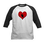 I heart Motocycle Racing Kids Baseball Jersey