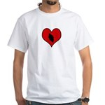 I heart Motocycle Racing White T-Shirt