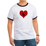 I heart Motocycle Racing Ringer T