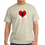I heart Motocycle Racing Light T-Shirt