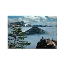 Foggy Crater Lake Rectangle Magnet (100 pack)