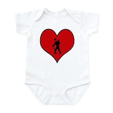 I heart Hiking Infant Bodysuit