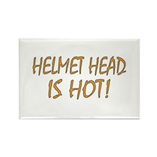 Hot Helmet Head Rectangle Magnet