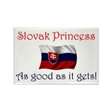 Slovak Princess Rectangle Magnet
