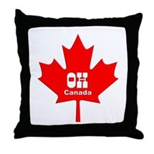 Cute Oh canada Throw Pillow