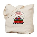 Penguin 1st Chrismas Snow Globe Tote Bag