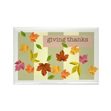 Thanksgiving Rectangle Magnet (100 pack)