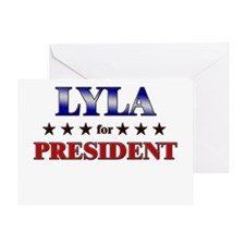 LYLA for president Greeting Card