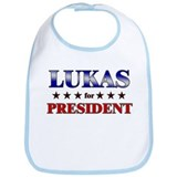 LUKAS for president Bib