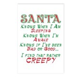 Creepy Santa 2 Postcards (Package of 8)