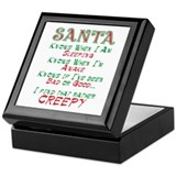 Creepy Santa 2 Keepsake Box