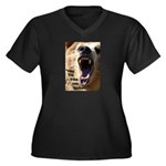 Survivor Women's Plus Size V-Neck Dark T-Shirt