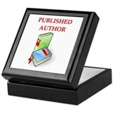 author t-shirts gifts Keepsake Box