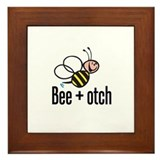 Bumble Bee Beeotch Framed Tile