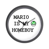 Mario is my homeboy  Wall Clock