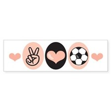 Peace Love Soccer Bumper Bumper Sticker