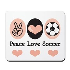 Peace Love Soccer Mousepad