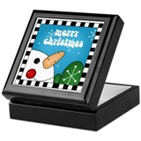 Merry Christmas Snowman Keepsake Box