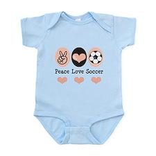 Peace Love Soccer Infant Bodysuit