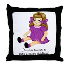 Purple - Rag Doll Throw Pillow