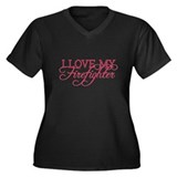 I love my firefighter Women's Plus Size V-Neck Dar