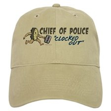 Clocked Out Chief Of Police Hat