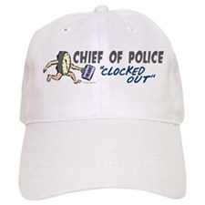 Clocked Out Chief Of Police Baseball Cap