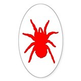 Red Tarantula Oval Decal
