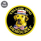 "New Yellow Dog Democrat 3.5"" Button (10 pack)"