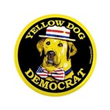 New Yellow Dog Democrat 3.5&quot; Button